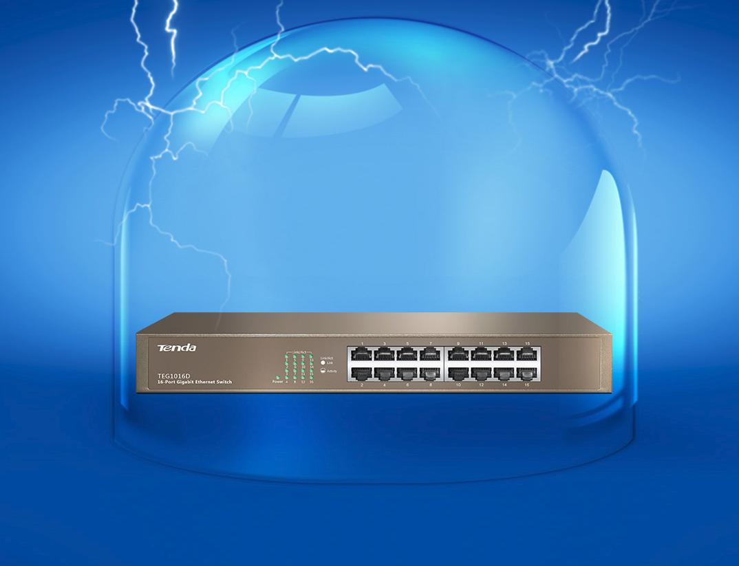 Switch 16-ports Gigabit Ethernet