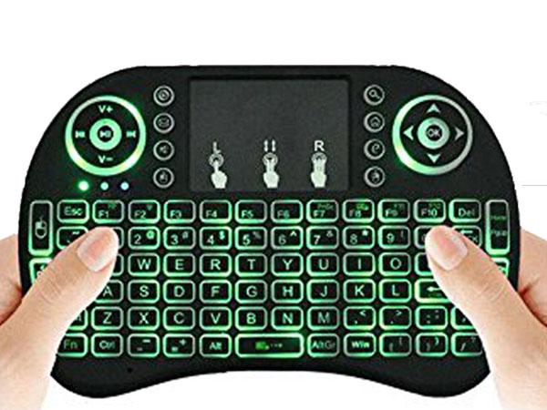 Mini clavier et souris rétro-éclairé sans fil