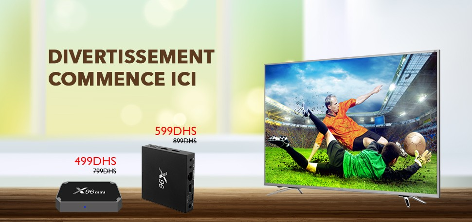 TV Box a partir de 499Dhs